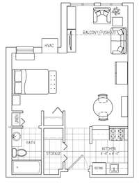 Studio Apartment at Laurel Lake