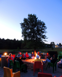Singing and S'mores Around the Camp Fire at Laurel Lake