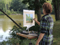 Plein Air Painting at Laurel Lake